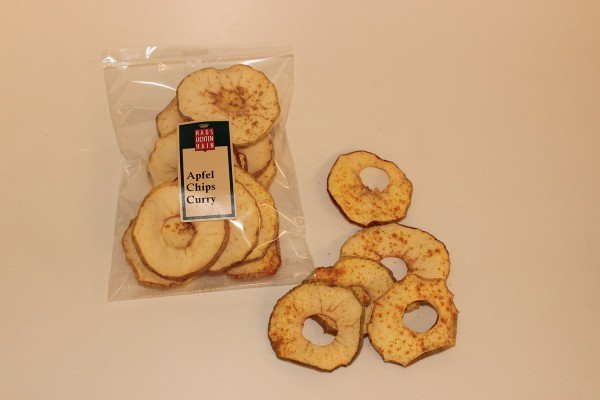 Apfel-Chips mit Curry (30 g)